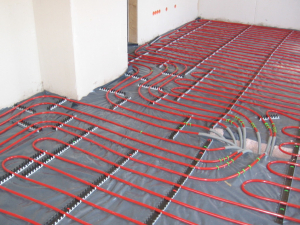 réseau de chauffage au sol